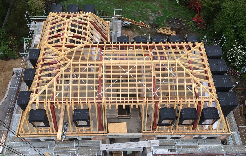 Peters Zimmerei Dachkonstruktion